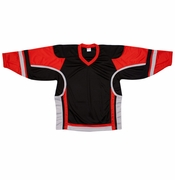 Firstar Stadium Hockey Jersey - Black/Red/Gray