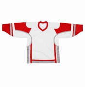 Firstar Stadium Hockey Jersey - White/Red/Gray