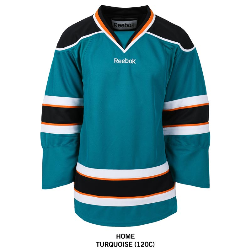 San Jose Sharks Reebok Edge Gamewear Uncrested Adult Hockey Jersey 72301f8deb1
