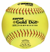 Worth Gold Dot ASA Slowpitch Softball