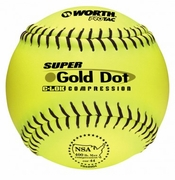 Worth Gold Dot NSA Slowpitch Softball