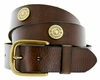 12 Gauge Shotgun Conchos Leather Belt