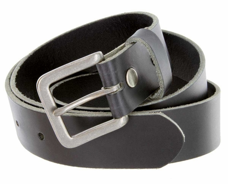 "5957 Men's One Piece Full Genuine Leather Dress Belt 1-3/8"" (35mm) Wide-Black"