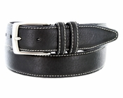 American Black Bison Dress Leather Belt