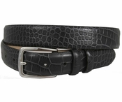 "Arman 3208 Men's Italian Leather Charcoal Dress Belt 1 1/8"" Wide"