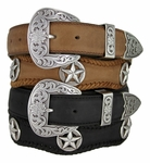 Austin Texas Western Scallop Belt