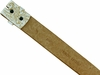 "BS036 Western Floral Engraved Tooling Full Grain Leather Belt Strap 1-1/2"" - White"