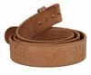 "BS061 Genuine Full Grain Tooled Leather Belt Strap 1-1/2"" Wide"
