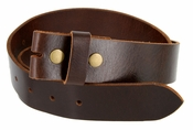 "BS103 Genuine Full Grain Vintage Leather Belt Strap 1-1/2"" Wide Oil-tan Brown"