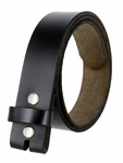 "BS121 Genuine Full Grain Leather Belt Strap 1-1/2"" Wide - Black"