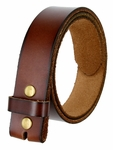 "BS121 Genuine Full Grain Leather Belt Strap 1-1/2"" Wide - Brown"