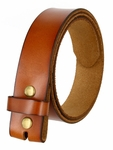 "BS121 Genuine Full Grain Leather Belt Strap 1-1/2"" Wide - Tan"