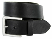 BS1811 Full Grain Buffalo Hide 100% Leather Natural Vintage Finish Belt - Black 1 1/2""