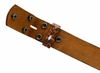 "BS220 Embossed Belt Strap Snaps On 1-1/2"" Wide - Brown"