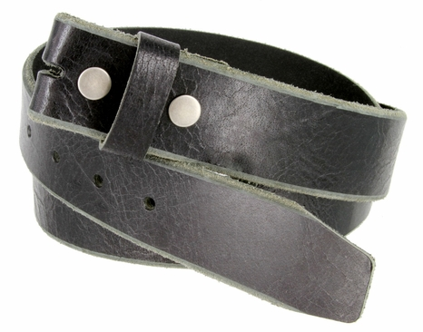 "BS304 Genuine Full Grain Vintage Leather Belt Strap 1-1/2"" Wide Black"