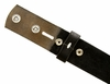 "BS40 Vintage Full Grain Leather Belt Strap 1-1/2"" Wide - Black"