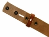 "BS40 Vintage Full Grain Leather Belt Strap 1-1/2"" Wide - Tan"