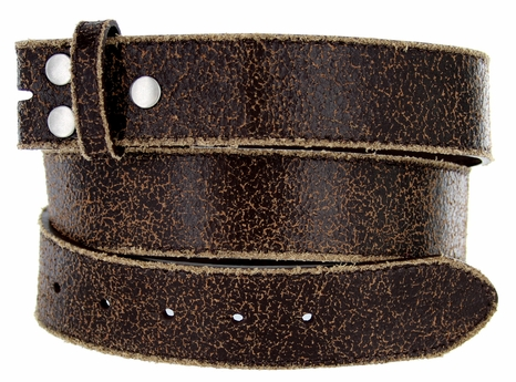 """BS56 Brown Distressed Leather Belt Strap 1 1/2"""" Wide $5.99"""