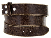 "BS56 Brown Distressed Leather Belt Strap 1 1/2"" Wide $5.99"