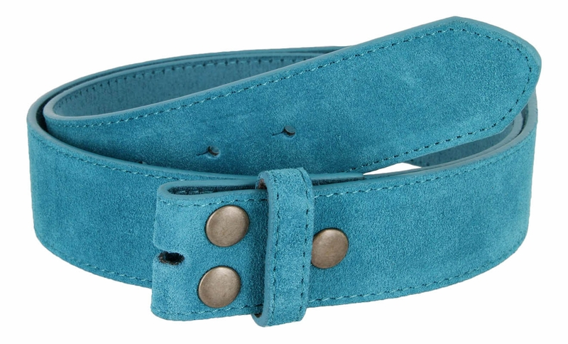 Bs066 Blue Suede Leather Belt Strap 1 1 2 Quot Wide
