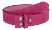 "BS066 Hot Pink Suede Leather Belt Strap 1 1/2"" Wide"