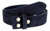 "BS066 Navy Suede Leather Belt Strap 1 1/2"" Wide"