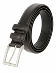 "Carter Black Genuine Leather Dress Belt 1-1/8"" Wide"