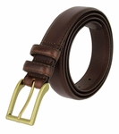 "Carter Brown Genuine Leather Dress Belt 1-1/8"" Wide"