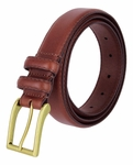 "Carter Tan Genuine Leather Dress Belt 1-1/8"" Wide"