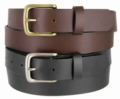 "CX16032 Men's Full Grain Leather Dress Belt Black Brown 1-1/4"" Wide Made In USA"