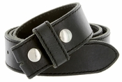 "E051 One Piece 100% Full Genuine Leather Belt Strap 1-1/2"" (38mm) - Black"