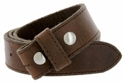 "E051 One Piece 100% Full Genuine Leather Belt Strap 1-1/2"" (38mm) - Brown"