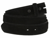 Fullerton 3510001 Genuine Suede Leather Belt Straps - Black