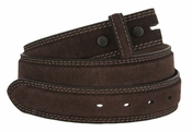 Fullerton 3510002 Genuine Suede Leather Belt Straps - Brown