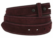 Fullerton 3510003 Genuine Suede Leather Belt Straps - Burgundy