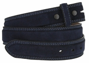 Fullerton 3510005 Genuine Suede Leather Belt Straps - Navy