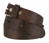 Fullerton 384002 Genuine Full Grain Vintage Distressed Leather Belt Strap - Brown