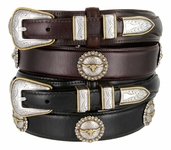 Gold Longhorn Steer Ranger Belt