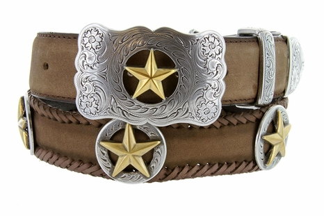 "Gold Star Western Belt 1 1/2"" Wide"