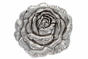 HA-0064 LASRP Silver Rose Western Buckle