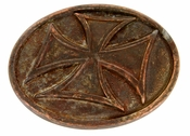 HA 0534 VT13 Vintage Patina Copper Cross Belt Buckle