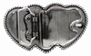 Large Triple Three Heart Shape Western Womens Belt Buckle HA-0086-1