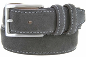 Men's Suede Leather Dress Belt - Gray