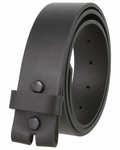 "MBLK1300 One Piece Full Grain Leather Casual Belt Strap 1-1/2"" wide - Black"