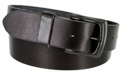 "P3926 Black Vintage Full Grain Cowhide Leather Casual Jeans Belt 1-1/2"" Wide"