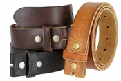 Plain & Vintage Leather Belt Straps