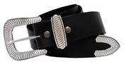 "Randy Men's Western Full Grain Leather Belt 1 1/2"" Wide"