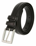 "Rome Black Genuine Leather Dress Belt 1-1/8"" Wide"