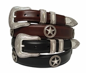 Tombstone Star Conchos Oil Tanned Leather Belt