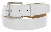 "Valley View Men's Designer Dress Leather Belt in Alligator White 1-1/2"" Wide"